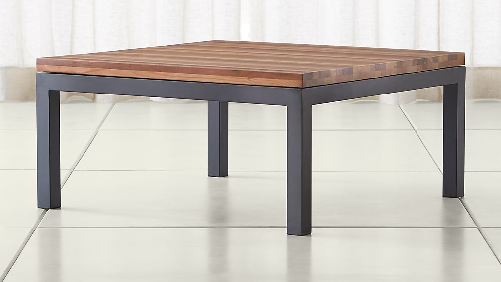 Parsons Reclaimed Wood Top Dark Steel Base 36x36 Square Coffee