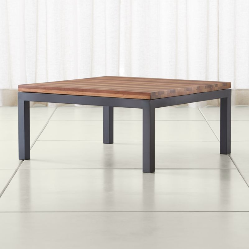 Square Wood Coffee TableCrate and Barrel