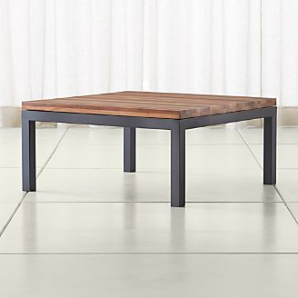 Parsons Reclaimed Wood Top/ Dark Steel Base 36x36 Square Coffee Table Part 52