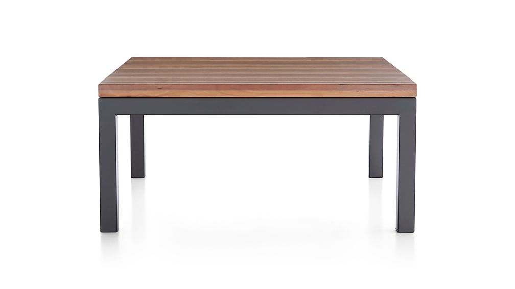 Parsons Reclaimed Wood Top/ Dark Steel Base 36x36 Square Coffee Table