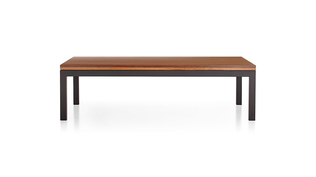 Parsons Coffee Table Crate And Barrel ... Steel Base 60x36 Large Rectangular Coffee Table   Crate and Barrel