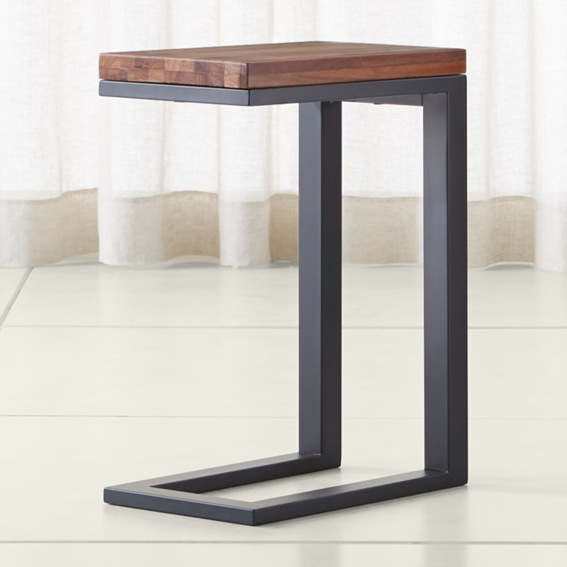 Parsons Reclaimed Wood Top/ Dark Steel Base 20x12 C Table