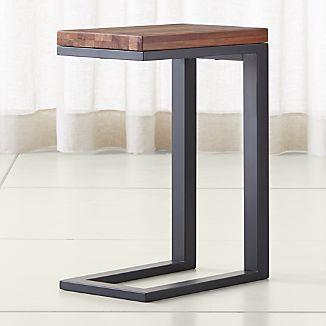 Parsons Reclaimed Wood Top Dark Steel Base 20x12 C Table