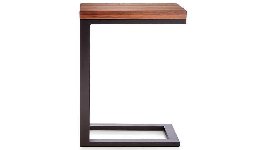 Parsons Reclaimed Wood Top/ Dark Steel Base 20x12 C Table