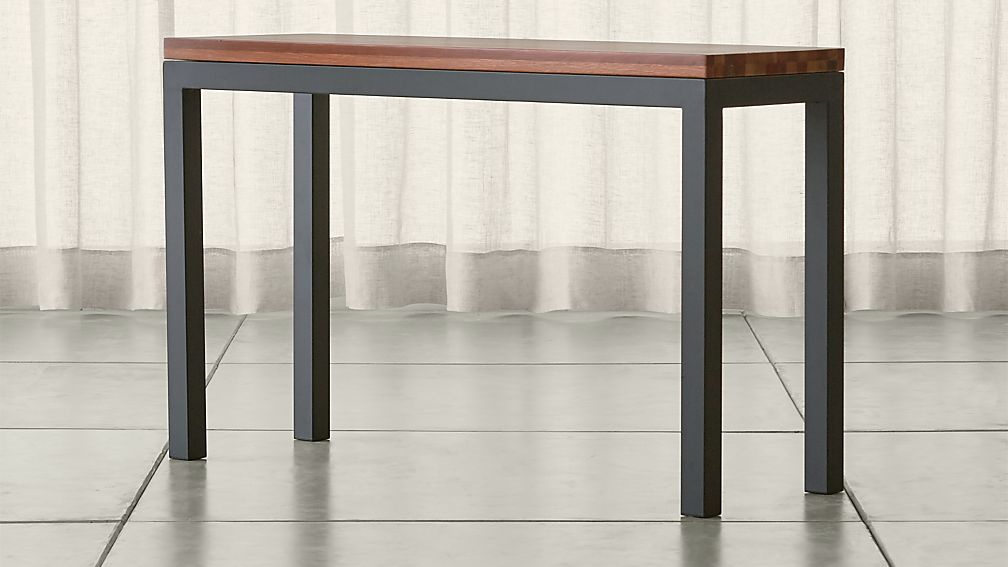 Parsons Reclaimed Wood Top/ Dark Steel Base 48x16 Console ...