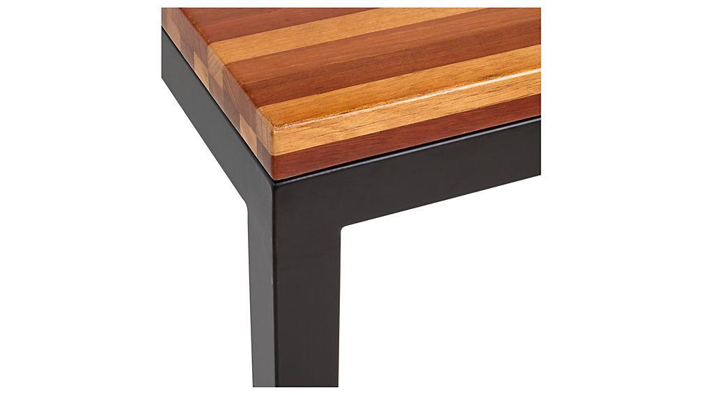 Parsons Reclaimed Wood Top/ Dark Steel Base 48x28 Small Rectangular Coffee Table