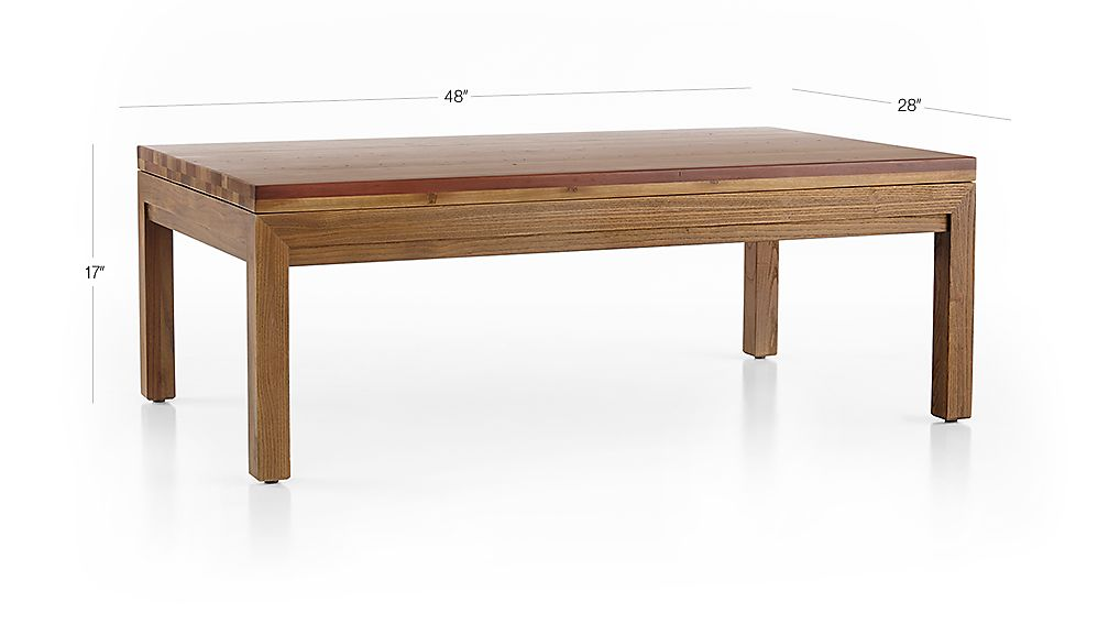 Parsons Reclaimed Wood Top Elm Base 48x28 Small Rectangular Coffee Table Crate And Barrel