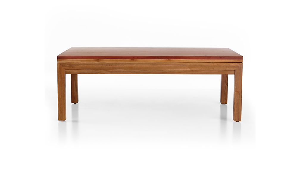 Parsons Reclaimed Wood Top/ Elm Base 48x28 Small Rectangular Coffee Table