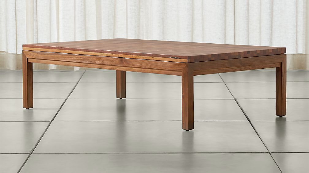 Parsons Reclaimed Wood Top/ Elm Base 60x36 Large Rectangular Coffee Table