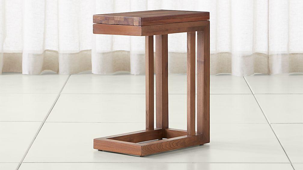 Parsons Reclaimed Wood Top/ Elm Base 20x12 C Table