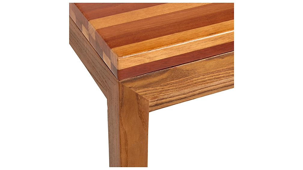 Parsons Reclaimed Wood Top/ Elm Base 36x36 Square Coffee Table