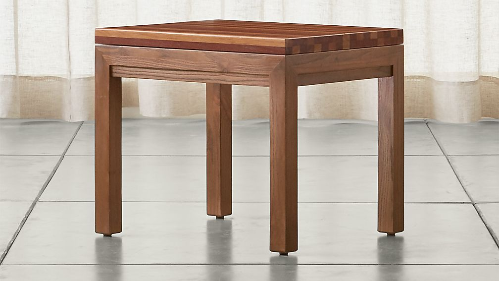 Parsons Reclaimed Wood Top/ Elm Base 20x24 End Table