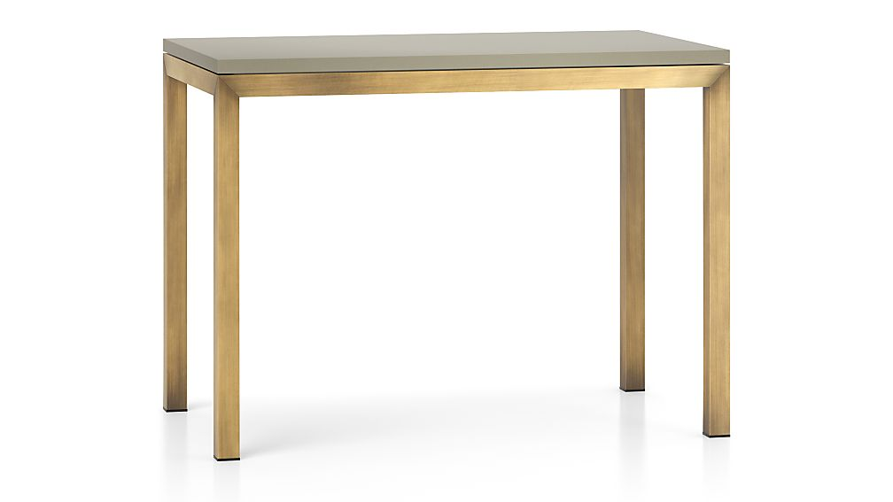 Parsons Grey Solid Surface Top/ Brass Base 48x28 High Dining Table
