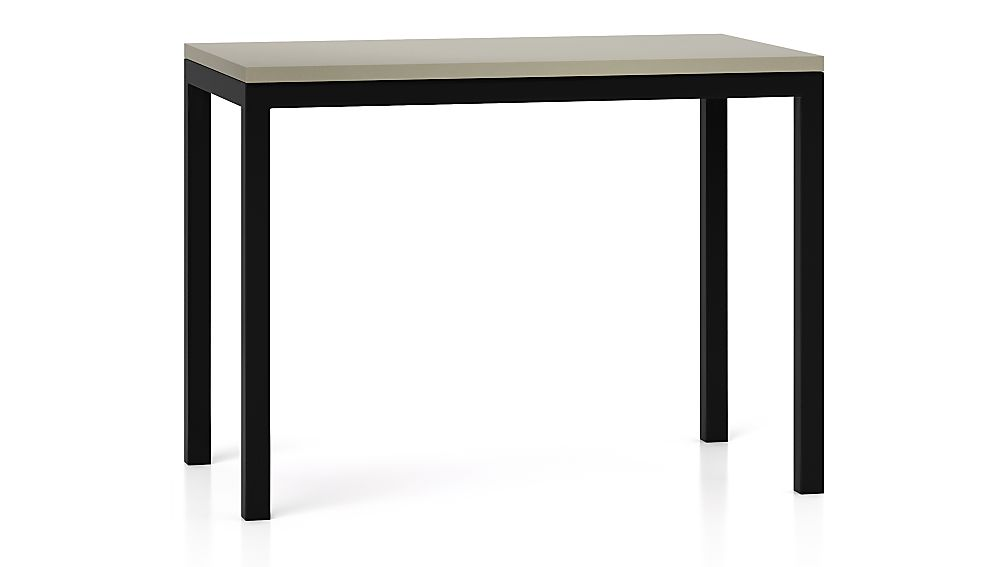 Parsons Grey Solid Surface Top/ Dark Steel Base 48x28 High Dining Table