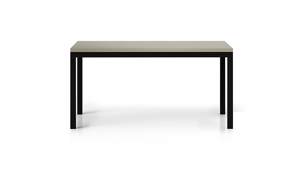 Parsons Grey Solid Surface Top/ Dark Steel Base 60x36 Dining Table