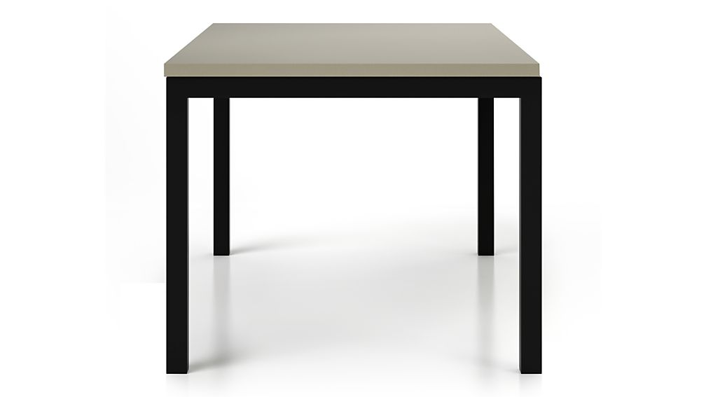 Parsons Grey Solid Surface Top/ Dark Steel Base 48x28 Dining Table
