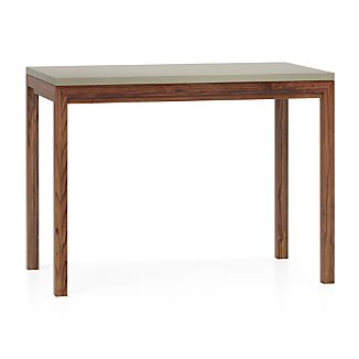 Parsons Grey Solid Surface Top/ Elm Base 48x28 High Dining Table
