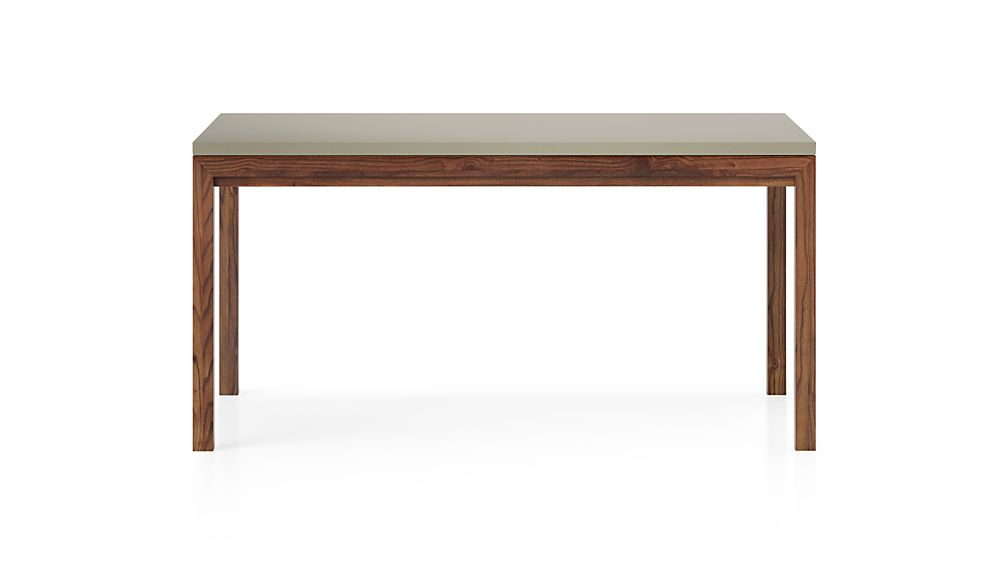 Parsons Grey Solid Surface Top/ Elm Base 48x28 Dining Table