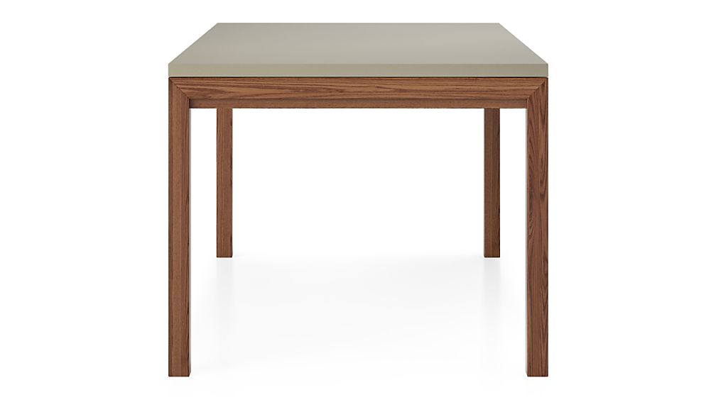 Parsons Grey Solid Surface Top/ Elm Base 60x36 Dining Table