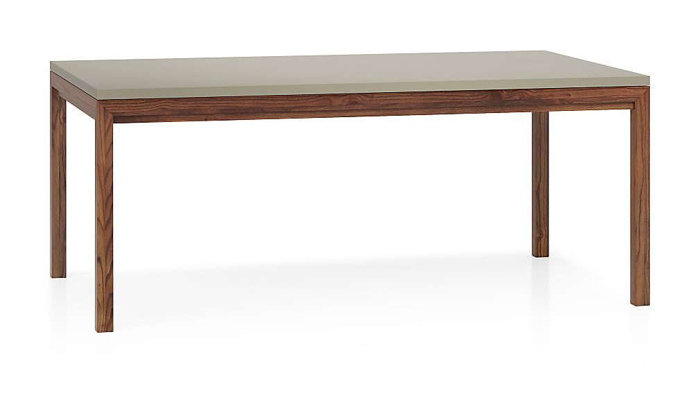 Parsons Grey Solid Surface Top/ Elm Base 72x42 Dining Table