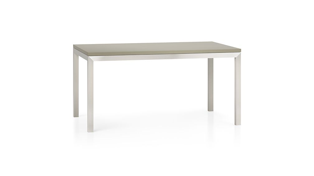 Parsons Grey Solid Surface Top/ Stainless Steel Base 48x28 High Dining Table