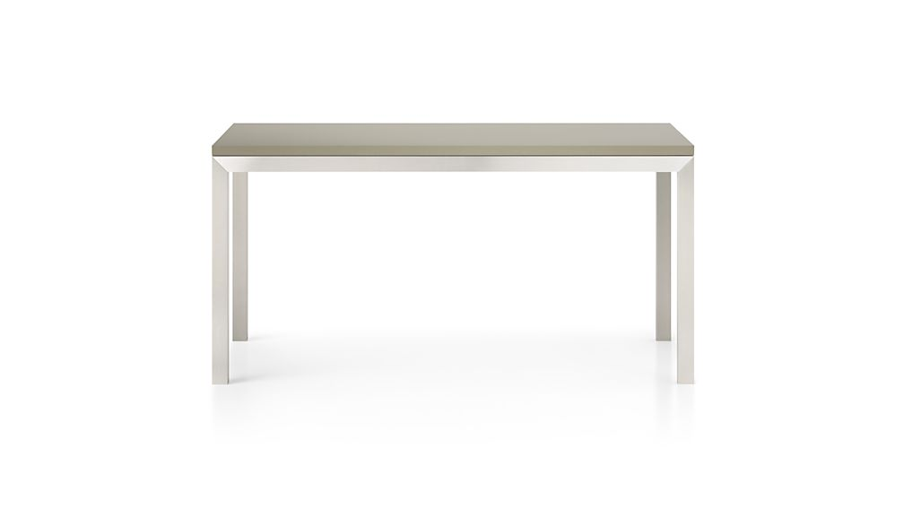 Parsons Grey Solid Surface Top/ Stainless Steel Base 60x36 Dining Table