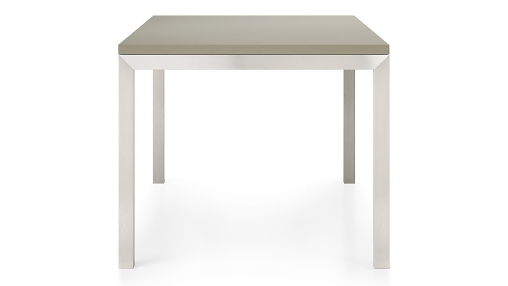 Parsons Grey Solid Surface Top/ Stainless Steel Base 48x28 Dining Table