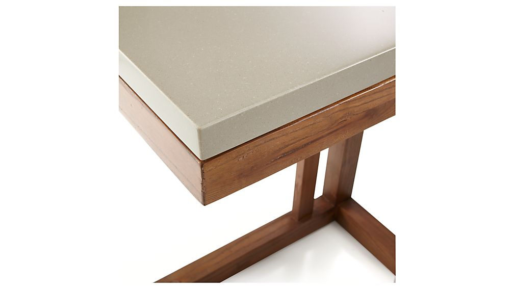 Parsons Grey Solid Surface Top/ Elm Base 20x12 C Table