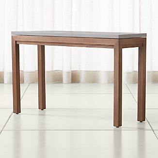 Parsons Grey Solid Surface Top/ Elm Base 48x16 Console