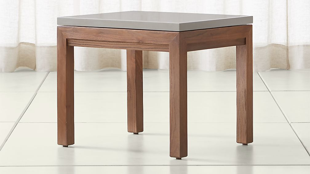 Parsons Grey Solid Surface Top/ Elm Base 20x24 End Table - Image 1 of 4