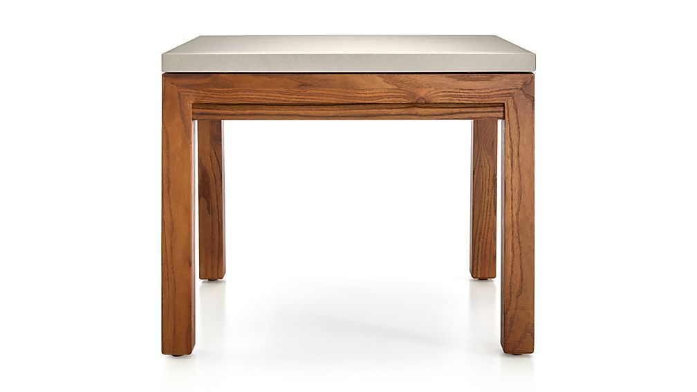 Parsons Grey Solid Surface Top/ Elm Base 20x24 End Table