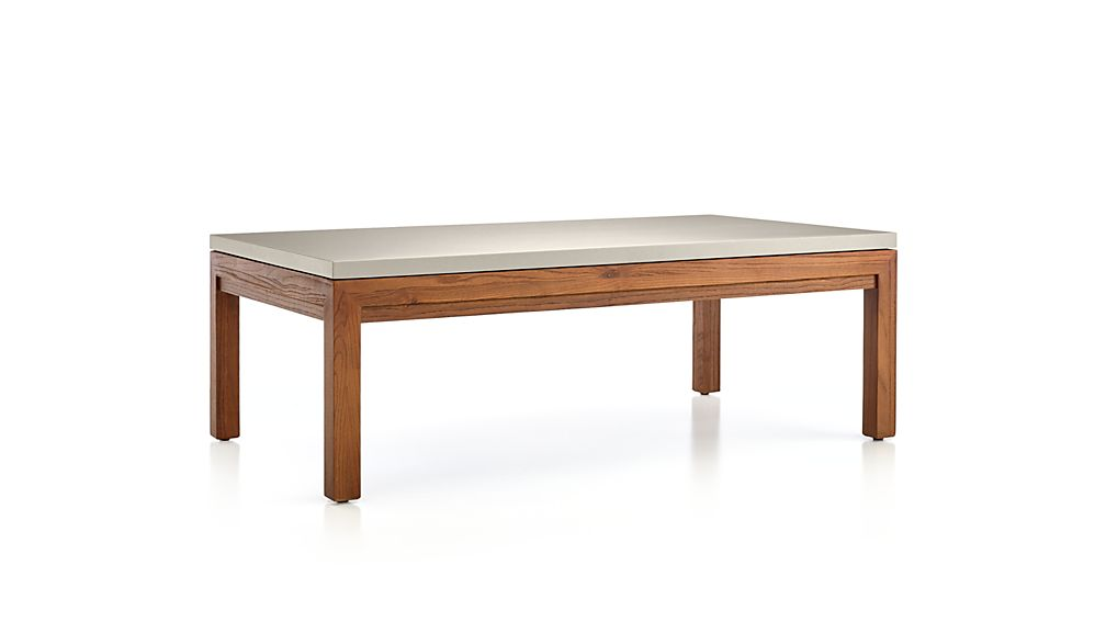 Parsons Grey Solid Surface Top/ Elm Base 48x28 Small Rectangular Coffee Table