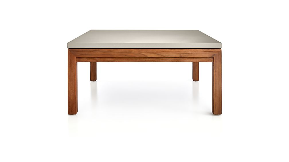 Parsons Grey Solid Surface Top/ Elm Base 36x36 Square Coffee Table