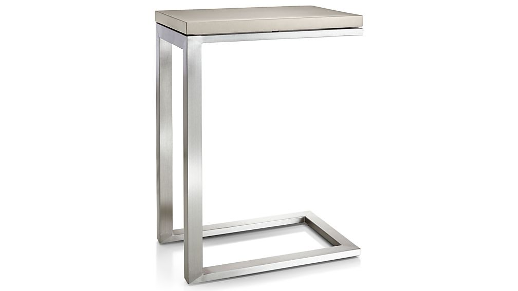 Parsons Grey Solid Surface Top/ Stainless Steel Base 20x12 C Table