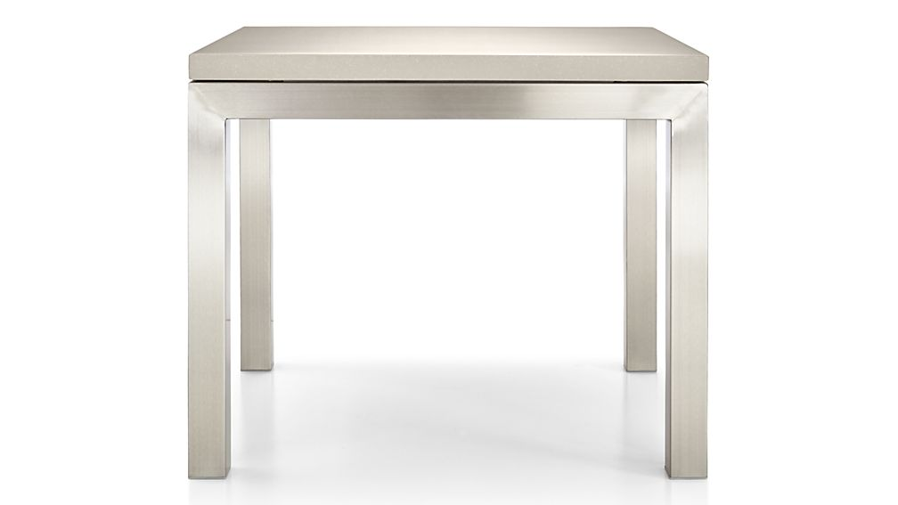 Parsons Grey Solid Surface Top/ Stainless Steel Base 20x24 End Table