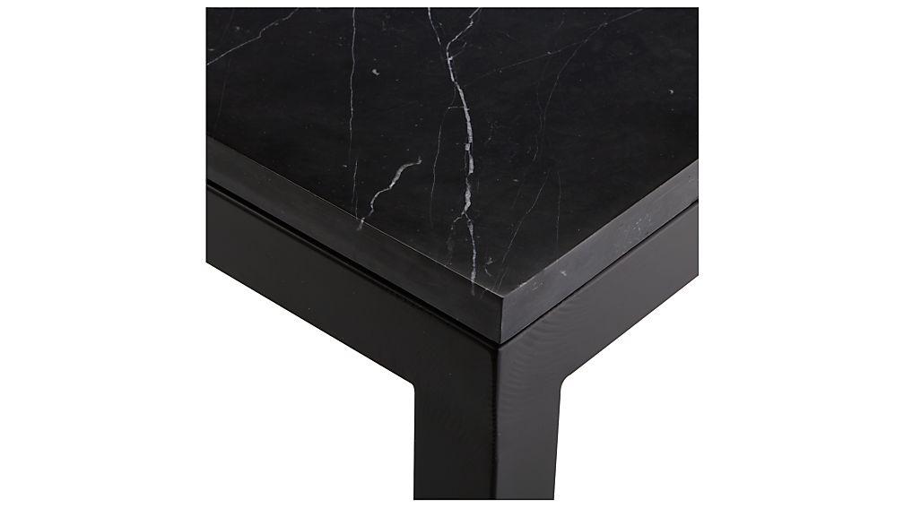 Parsons Black Marble Top/ Dark Steel Base 36x36 Square Coffee Table