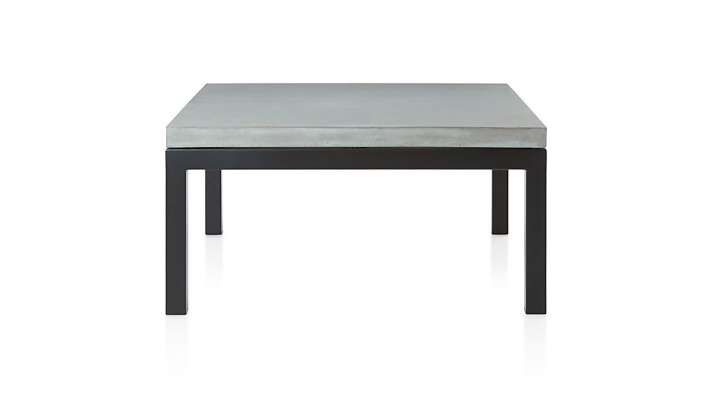 Parsons Coffee Table Crate And Barrel Parsons Square Dark Steel Coffee Table with Concrete Top | Crate and ...