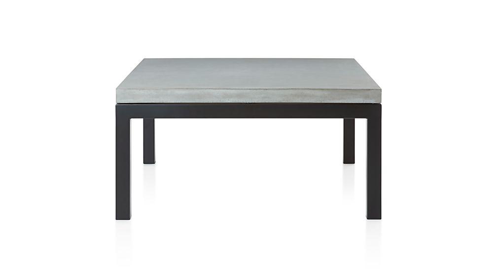 Parsons Concrete Top/ Dark Steel Base 36x36 Square Coffee Table