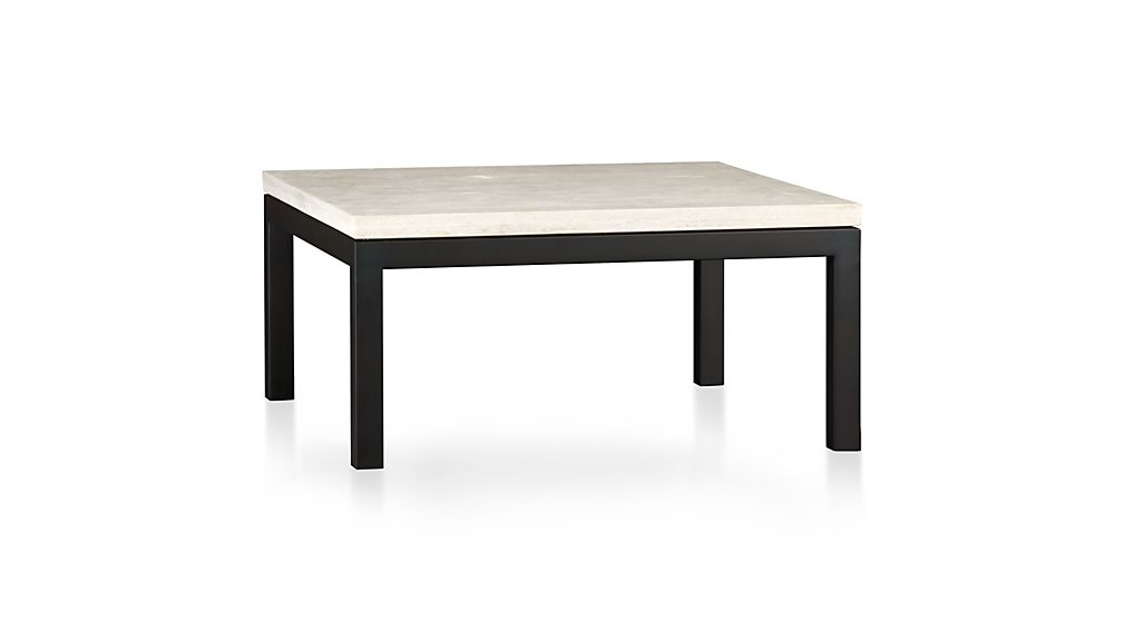Square Outdoor Coffee Table Part - 42: ... Parsons Travertine Top/ Dark Steel Base 36x36 Square Coffee Table ...