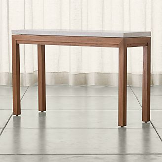 Parsons Travertine Top/ Elm Base 48x16 Console