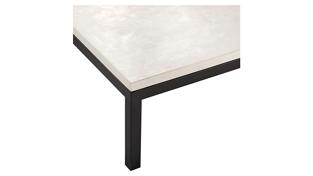 Parsons Travertine Top/ Dark Steel Base 48x16 Console