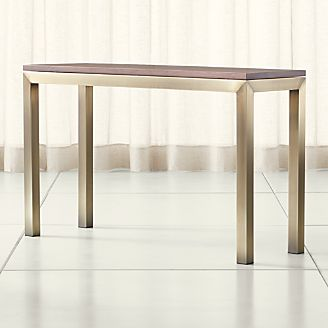 Parsons Walnut Top Br Base 48x16 Console