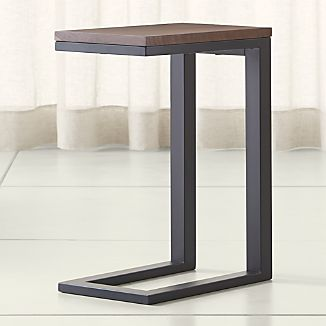Parsons Walnut Top/ Dark Steel Base 20x12 C Table