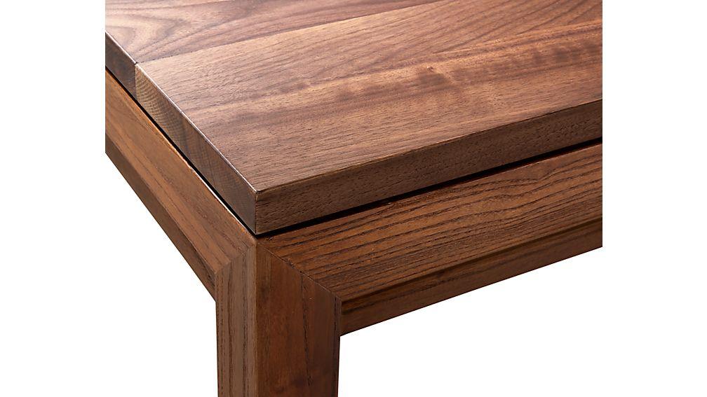 Parsons Walnut Top/ Elm Base 48x28 Small Rectangular Coffee Table