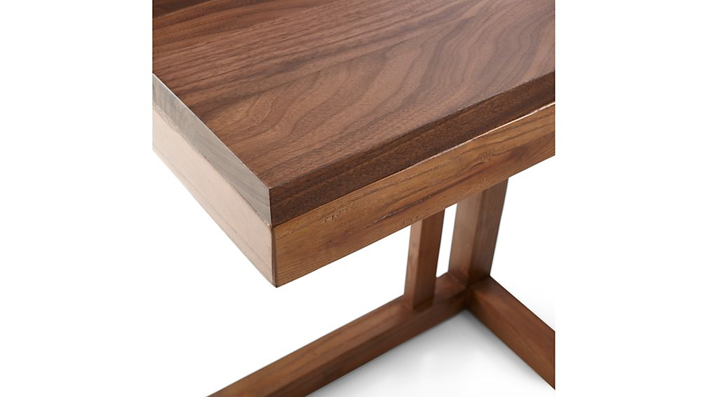 Parsons Walnut Top/ Elm Base 20x12 C Table