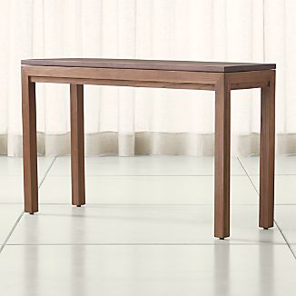 Parsons Walnut Top/ Elm Base 48x16 Console