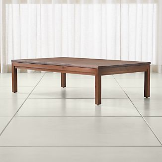 Bon Parsons Walnut Top/ Elm Base 60x36 Large Rectangular Coffee Table