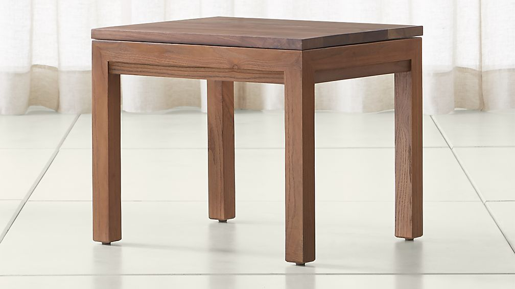 Parsons Walnut Top/ Elm Base 20x24 End Table - Image 1 of 4