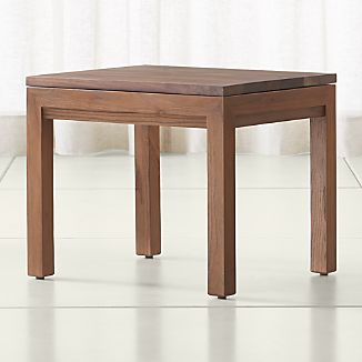 Parsons Walnut Top/ Elm Base 20x24 End Table