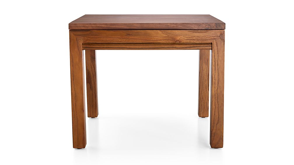 Parsons Walnut Top/ Elm Base 20x24 End Table
